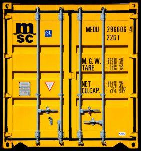container-jaune